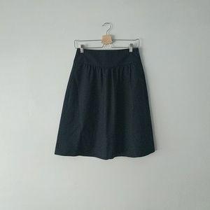 Theory Black Wool Skirt